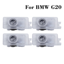 Porta do carro led cortesia bem-vindo lâmpada para bmw g20 g21 2020 g02 g07 g29 z4 x7 m8 m4 3 8 série logotipo automático projetor laser luz fantasma