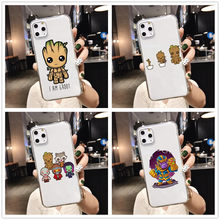 Phone Case for iPhone 11PRO MAX Guardians of the for Galaxy Marvel Avengers Endgame TPU soft phone Case for iPhone 5 6 7 8 Plus(China)