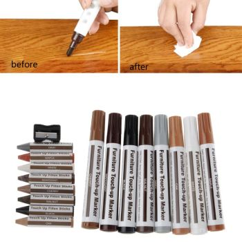 17Pcs Furniture Touch Up Kit Markers & Filler Sticks Wood Scratches Restore - discount item  23% OFF Furniture Accessories