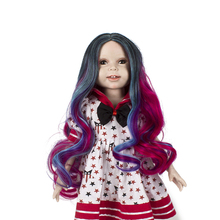 Muzi Natural color Synthetic Hair Wigs for 18'' Height American Doll DIY Making Wigs Accessories Girl Christmas Birthday Gifts 1pcs dolls wigs hair fit for 18inch height american girl doll hair wigs
