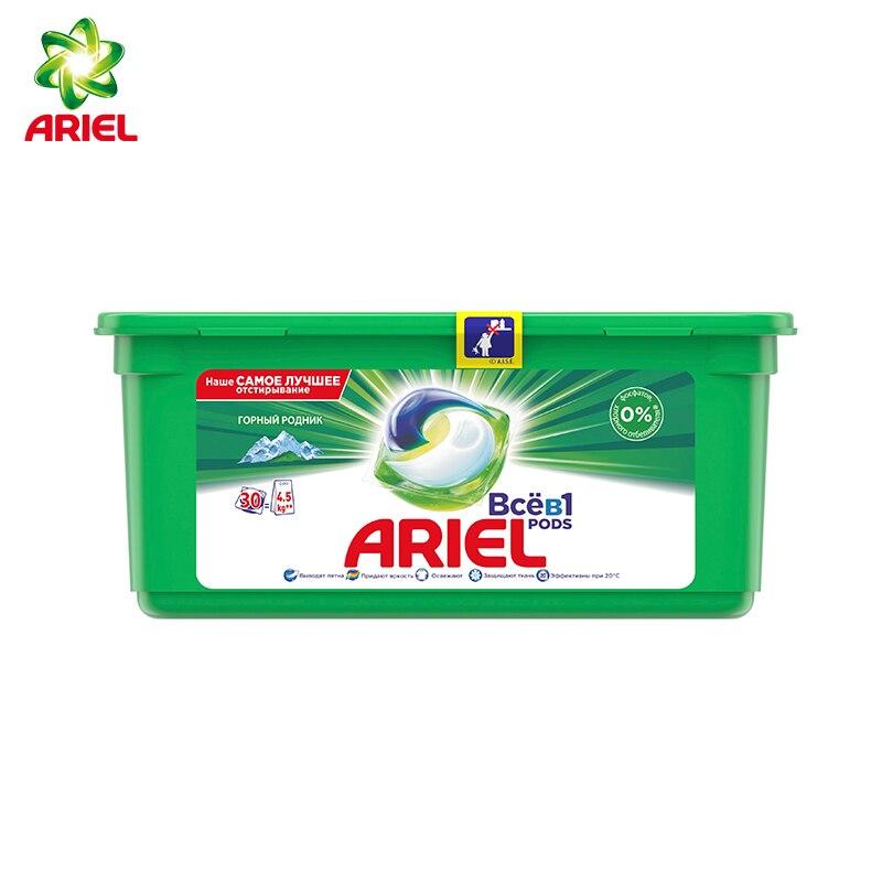 Ariel Pods Всё-в-1 Горный Pодник Капсулы Для Стирки 30шт.