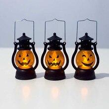 Linterna Vintage de Halloween lámpara de luz LED para fiesta de Halloween decoración colgante de hogar Luz De noche portátil ornamentos lámpara de noche #007