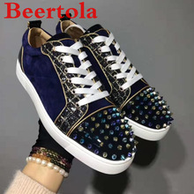 Men's Sneakers Leisure-Shoes Espadrilles Men Designers Brand Casual Flock with Spikes