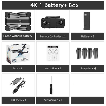 SG706 RC Drone 4K HD Dual Camera WIFI FPV Foldable Drone profissional 50X Zoom camera Quadcopter Optical Flow Dron VS M69G SG106 10