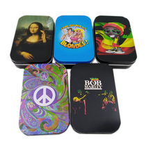 Holder Case Paper-Box Tobacco-Humidor Tin-Plate Smoking-Gadgets Rolling Funny Man Gift