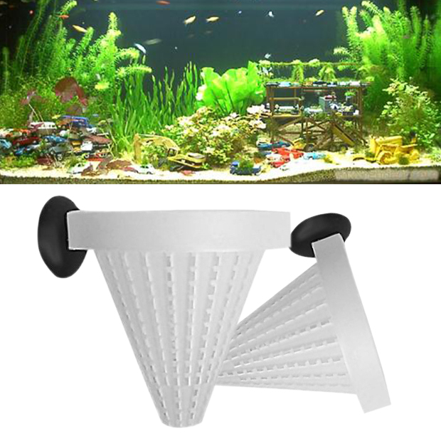 2 Pcs Aquarium Basket Feeder Fish Food Live Worm Bloodworm Cone Feed Fishtank Pet Fish Products