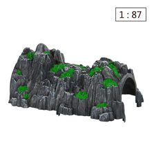 26cm 1:87 N Scale Simulated Cave Scene Model Toy Track Train Rockery Railway Tunnel For Rail Car RC Car Train Sand Table Model(China)