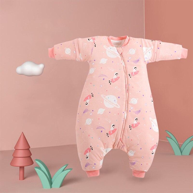 Sleeping Bag Baby Carriage Sack For Newborn Baby Cartoon Pattern Children Bed Play Split Leg Warm Winter Sleepsacks