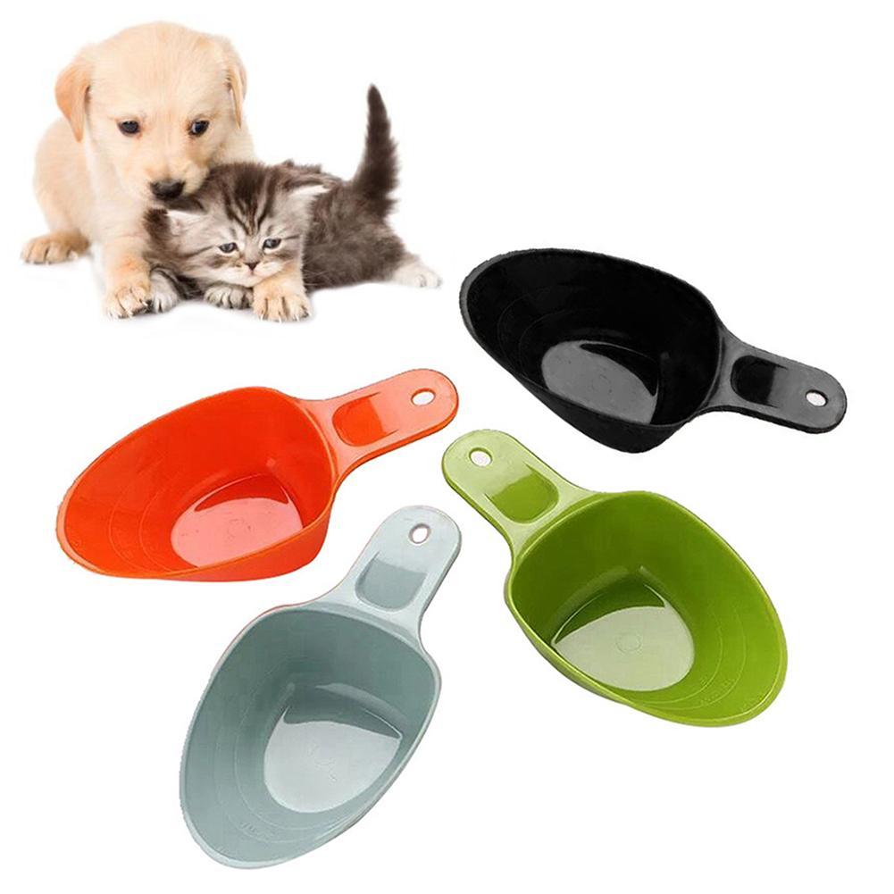 font b Pet b font Cat Dog Food Shovel Feeding Scoop Mutli function Plastic Spoon