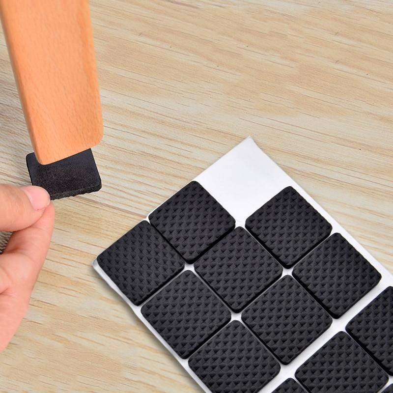 2  8 16 30 Pieces Furniture Leg Carpet Anti Scratch Self Adhesive Floor Protectors For Chair Table Anti Slip Chair Leg Caps