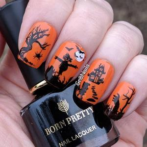 Image 4 - BORN PRETTY Halloween Nail Art Stamping Plate Pumpkin Christmas Pattern  Image Template Festival New Year Nails Stencil