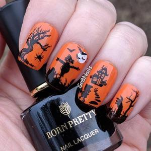 Image 4 - Doğan PRETTY cadılar bayramı Nail Art tırnak yapıştırması kabak noel desen görüntü şablon festivali yeni yıl çivi şablon
