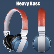 цена на HiFi Heavy Bass Cordless Gaming Music Bluetooth Headphones Stereo Headset With Mic Headphone FM Radio For xiaomi iphone computer