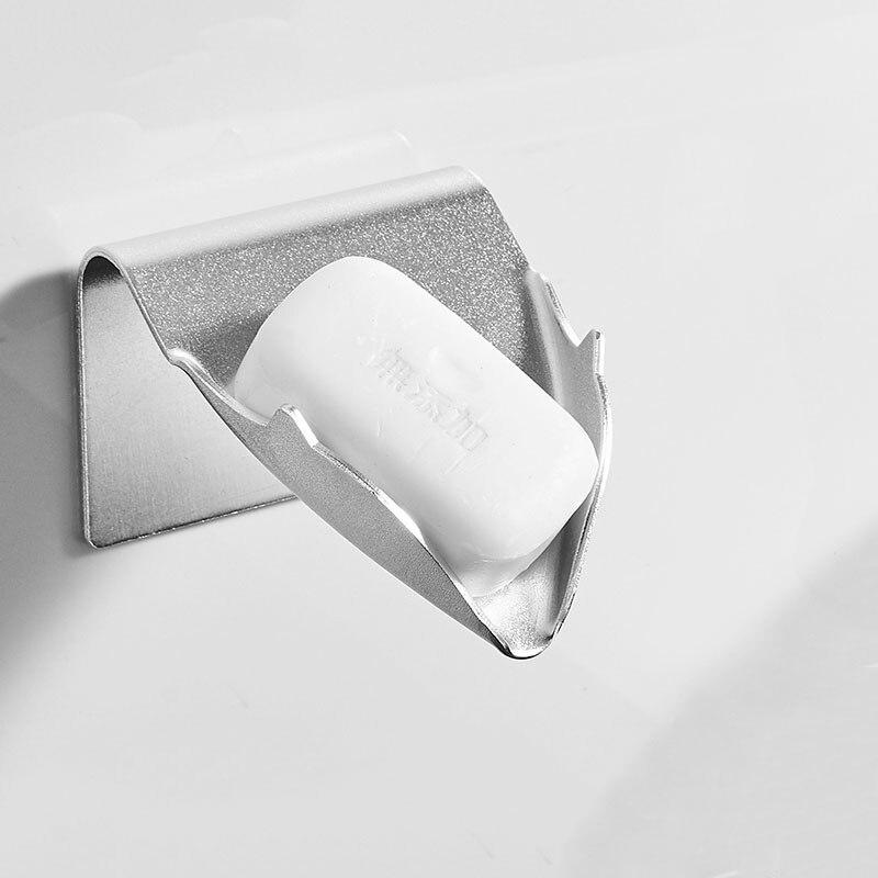 porte savon mural noir blanc eponge vaisselle accessoires de salle de bain