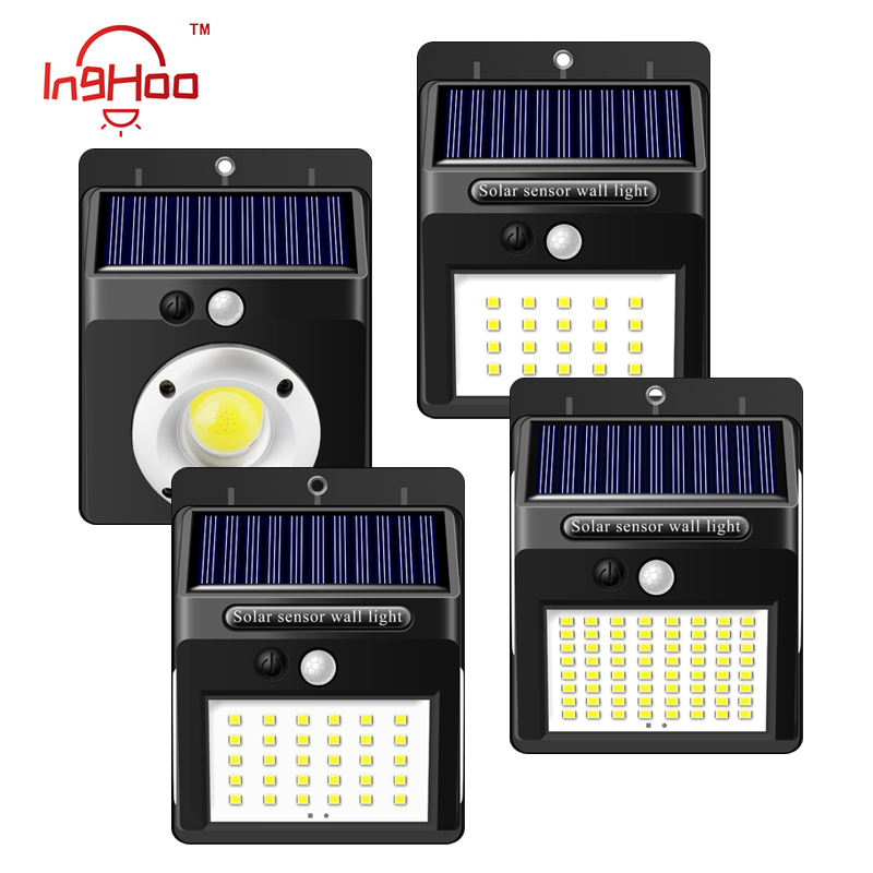 IngHoo 16COB/20/40/100LED Solar Lamp PIR Motion Induction Outdoor Wall Lamp Waterproof Street Light Energy-saving Garden Lamp