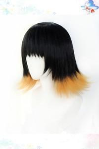 Image 4 - Susamaru demon slayer kimetsu nenhuma peruca yaiba cosplay traje resistente ao calor do cabelo sintético + tampão peruca livre