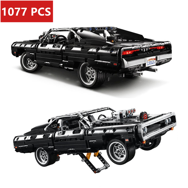 2020 New Technic Car 42111 Bricks Supercar DomS Dodged Charger Model Lepining Blocks Building Blocks Toy For Kids Gifts