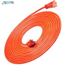 Power Extension Cord Strip Vinyl Outdoor US Electric Plug Outlets Socket 5/10/20m Flexible Grounded for Drill Electrocar Bicycle