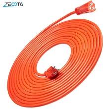 Tira de cable de extensión de alimentación de vinilo para exteriores enchufes eléctricos de ee. Uu., toma de corriente de 5/10/20m, conexión a tierra Flexible para taladro, Electrocar, bicicleta