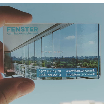 Customized printing PVC plastic clear transparent business card Clear Plastic Transparent Business Card