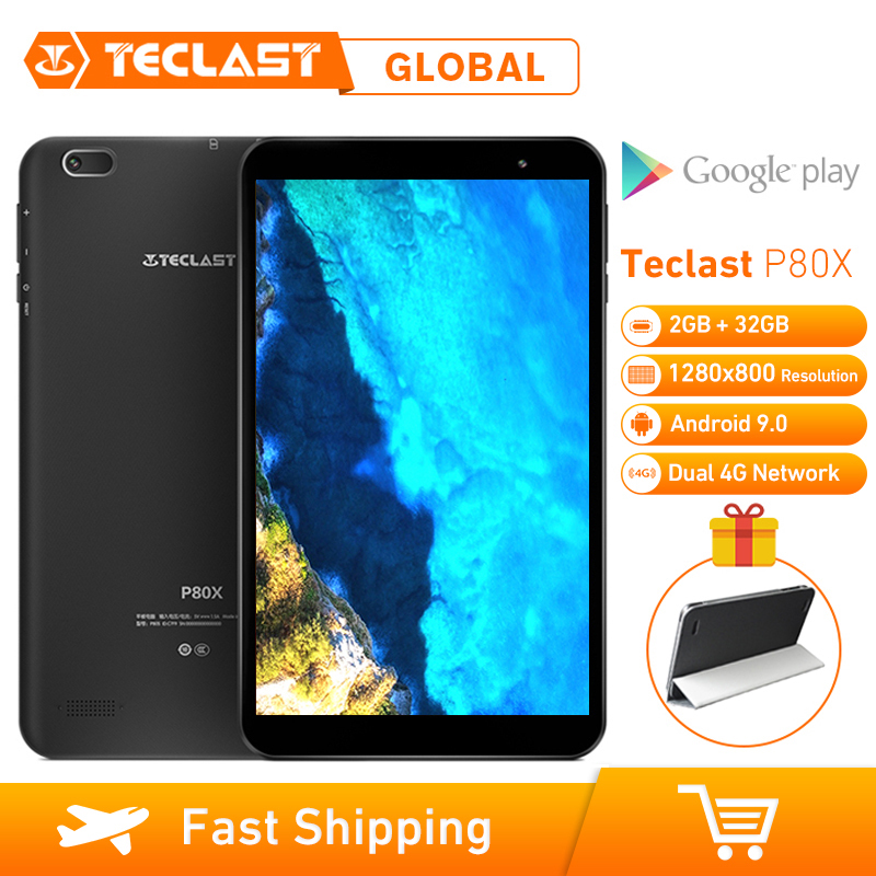Teclast P80X 2GB RAM 32GB ROM 8inch 1280x800 4G Tablet Android 9.0 SC9863A IMG GX6250 Octa Core 1.6GHz Dual Cameras Tablet