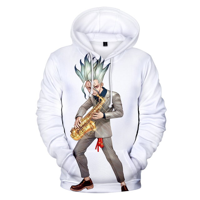 3D DR STONE THEMED HOODIE (11 VARIAN)