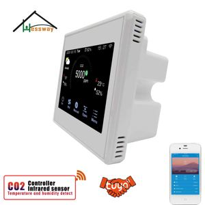 Image 5 - HESSWAY TUYA WIFI co2 air sensor 3 in1 Carbon Dioxide Temperature Humidity Detector for temp and humidity