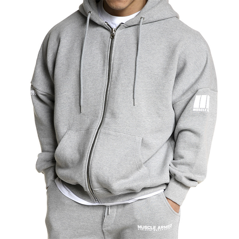 Image 5 - YEMEKE Fitness Men's Gyms Hooded Sweatshirt New Brand Autumn Bodybuilding Pure Color Long Sleeve Hoodies Zipper Clothes-in Hoodies & Sweatshirts from Men's Clothing