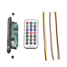 Wireless MP3 WMA Decoder Board Remote Control Player 12V Bluetooth 5.0 USB FM AUX TF SD Card Module Car Radio MP3 Speaker цена 2017