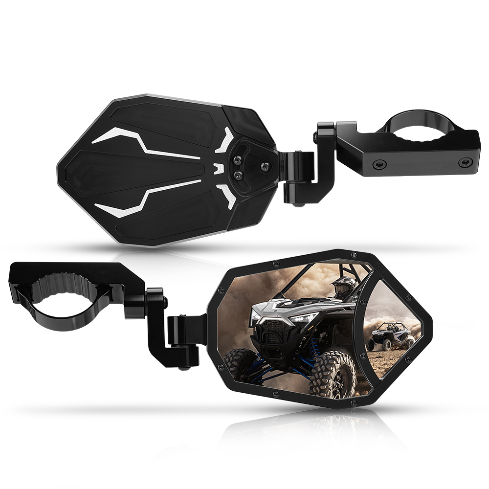 US UTV Rear View Mirror for Yamaha Rhino Kawasaki Mule Polaris RZR Can Am Arctic