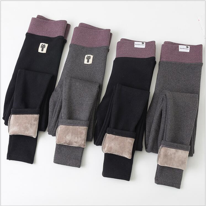 Women Warm Winter Leggings Women's Plus Velvet Leggings Winter High Waist Thick Super Elastic Leggings Women Winter Z272