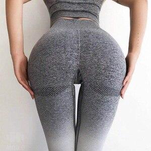 Image 5 - HIFOLK Fashion Women Fitness Seamless Leggings High Waist Push Up Pants Workout Jogging New Women Sporting Activewear Leggings