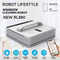 Casa inteligente limpador de janela robô vassoura alta sucção molhado seco limpeza inteligente automático robótico janela aspirador de pó rl880
