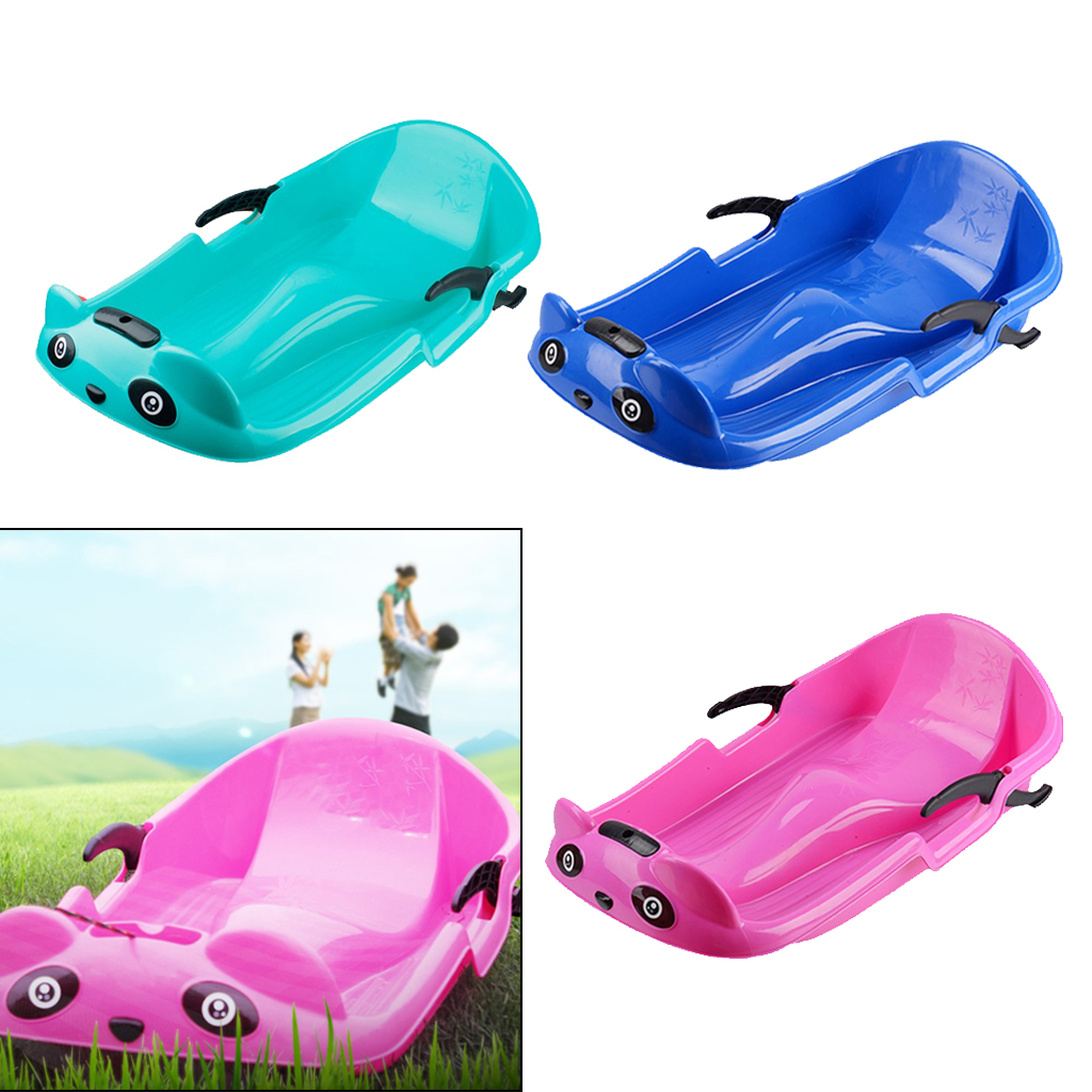 Reinforced Snow Sled Downhill Sledge Kids Skiing Sled Outdoor Sand Grass Sleigh Winter Snow Board Ski Skating Children Gift