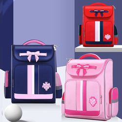 Brytyjski styl dzieci torby szkolne dla dziewczynek dzieci Student śliczne plecaki szkolne ortopedyczne wodoodporny łuk plecaki podstawowe różowy