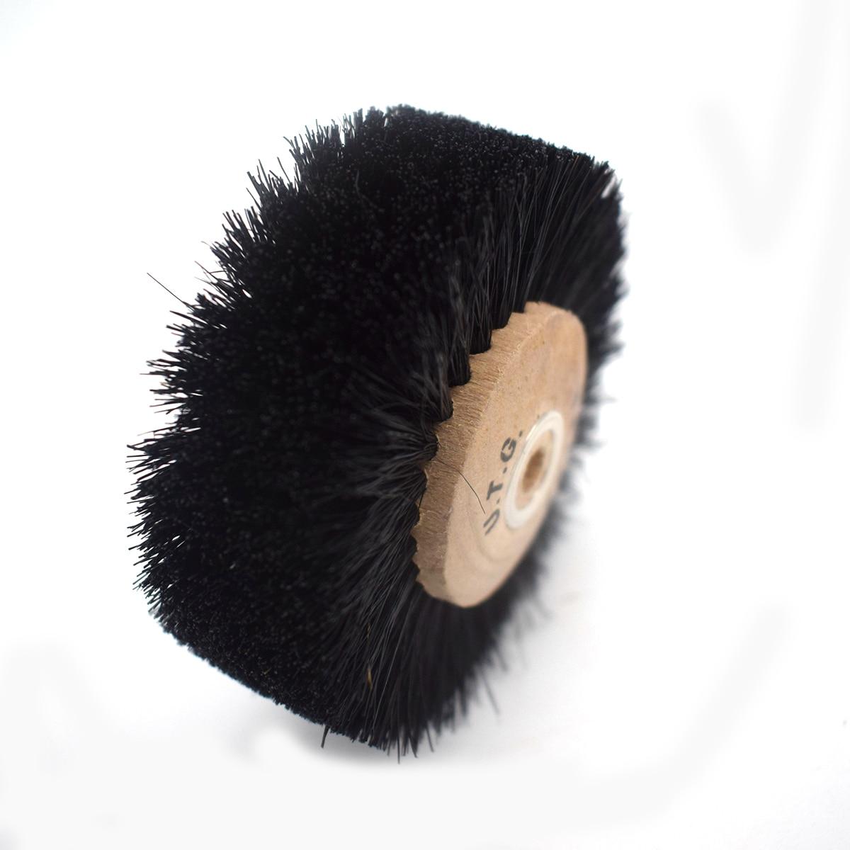 Деревянная втулка, 6 рядов, абразивные щетки, щетка для полировки длинных волос для изготовления ювелирных изделий
