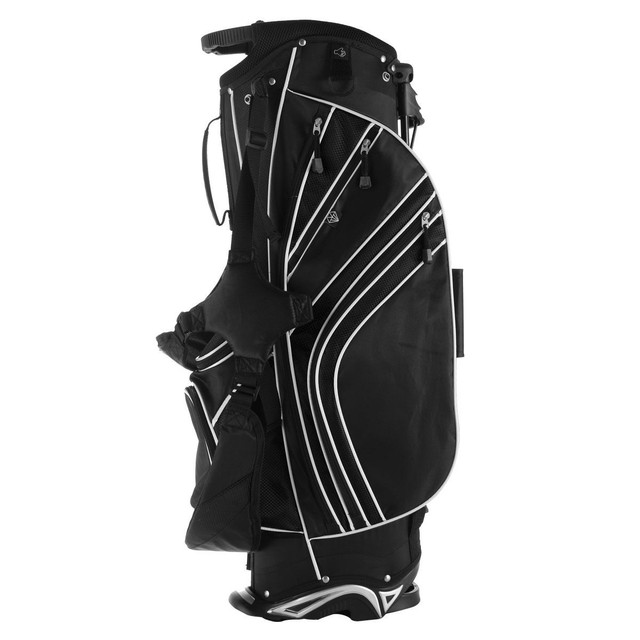 Golf Stand Cart Bag with 6-Way Divider Carry Pockets Golf Rack Bag Mens Women Standard Ball Club Bag Portable Large Capacity 2