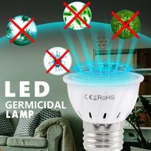 E14 Germicidal Light UVC Lamp Sterilizer E27 LED UV Desinfection GU10 Ultraviolet Bulb MR16 48led 60led 80led