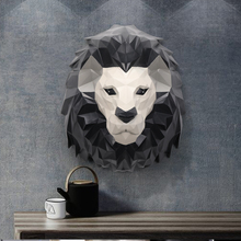Modern Minimalist Sofa Background Wall Hangings Creative Home 3D Stereo Entrance Meal Living Room Wall Animal Decorations