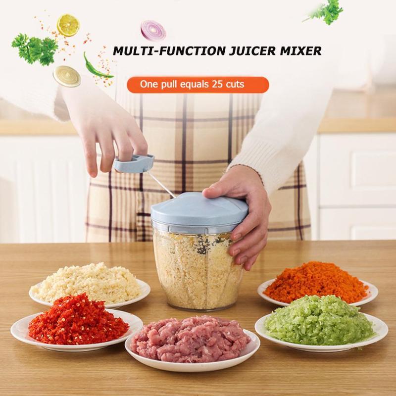 Portable Manual Meat Grinder Fruit Vegetable Shredder Slicer Food Chopper Mincer Mixer Blender Home Kitchen Appliances