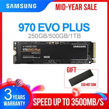 M2 SSD SAMSUNG M.2 SSD M2 1 TB 500G 250G HD NVMe SSD Festplatte HDD Festplatte 1 TB 970 EVO Plus Solid State PCIe für Laptop