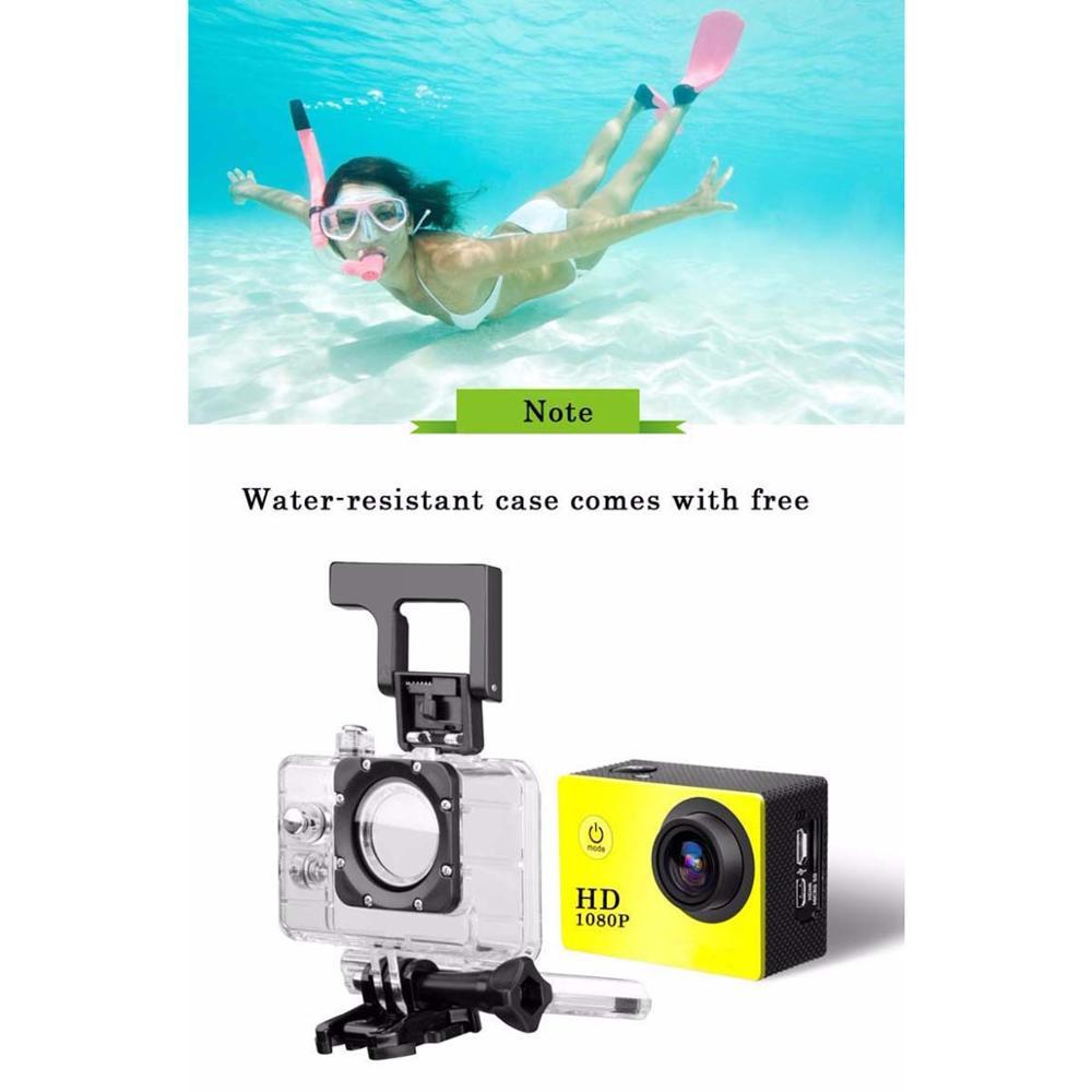 1080P Outdoor Sport Action Mini Kamera Wasserdicht Cam Bildschirm Farbe Wasserdicht Video Überwachung Unterwasser Kamera