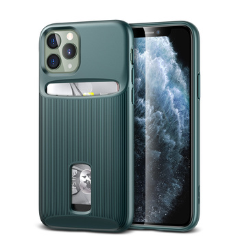 ESR Case for iPhone 11 Pro Max Card Case Wallet Brand Green Business TPU PC Cardholder Protective Cover for iPhone 2019 11pro
