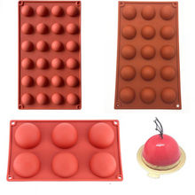 Ball Sphere silicone mold for chocolate baking round silicone cake pastry bakeware form pudding jello soap mold bread candy mold(China)