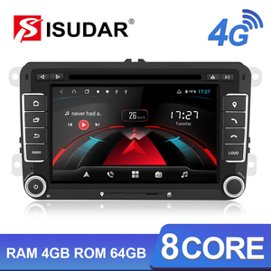 Isudar H53 Car Multimedia 2 Din Auto Radio GPS Android 4G For VW/Volkswagen/POLO/Golf/Skoda/Octavia/Seat/Leon RAM 4GB DVD Player