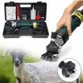 690W eléctrica oveja cabra cizalla cortadora de lana tijera tijeras eléctricas 6 velocidades ajustable herramientas de jardín