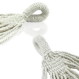 Image 4 - Tassel Hammock White Nylon Canvas hammock
