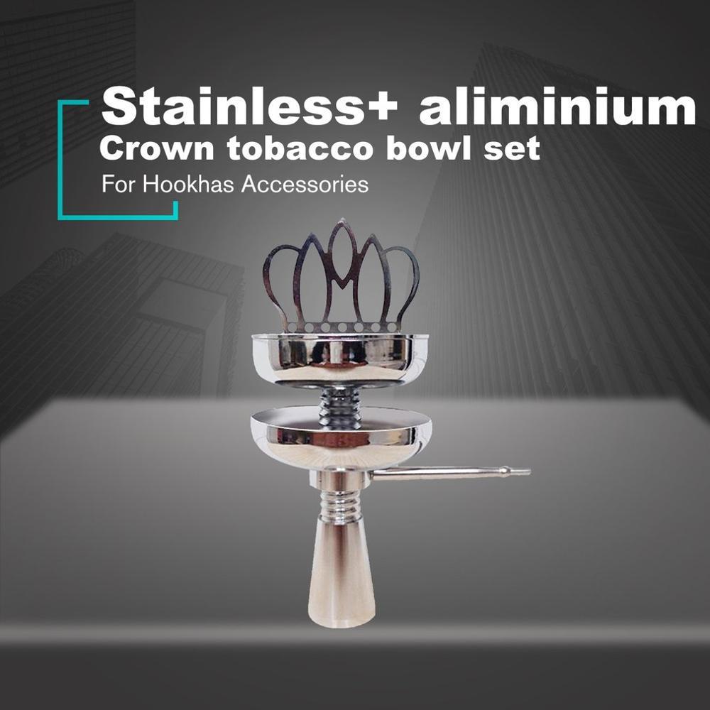 Shisha Hookah Crown Head Bowl set Charcoal Holder Burner Water Smoking Pipe Chicha Narguile For Hookhas Accessories Pakistan
