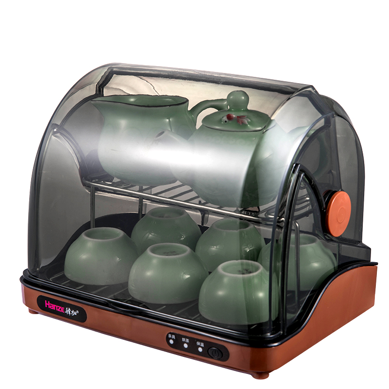 HANZE 4in1 Tea Set Disinfection Cabinet Electronic Dish Dryer Esterilizador Uv Sterilizer Small Tea Cupboard Dish Storage Box