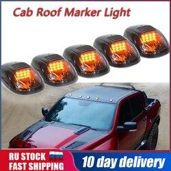 5 sztuk/zestaw 12LED wędzone kabiny dachu światło znacznikowe luz roboczy ciepła  jasna Amber dla Dodge Ram 1500 2500 3500 4500 5500 2003-2016